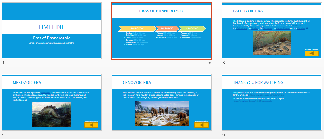 timeline for powerpoint 2013