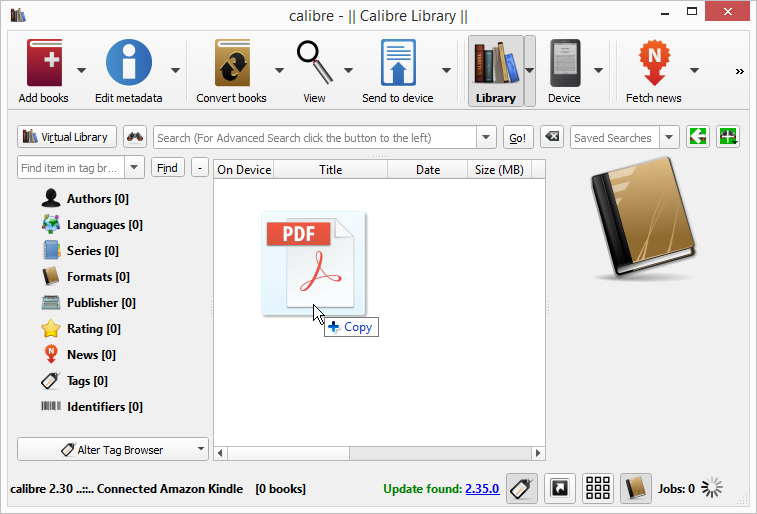 How to open your powerpoint presentation on kindle drag and drop the pdf presentation file on the calibre window ccuart Images