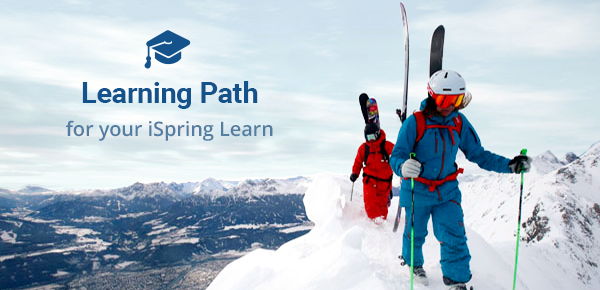 Learning Path. Back country skiers in mountains, photo by Dominic Ebenbichler.