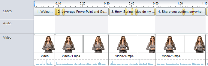 iSpring Manage Narration video track