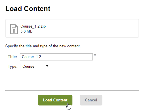 Load content in Firmwater LMS