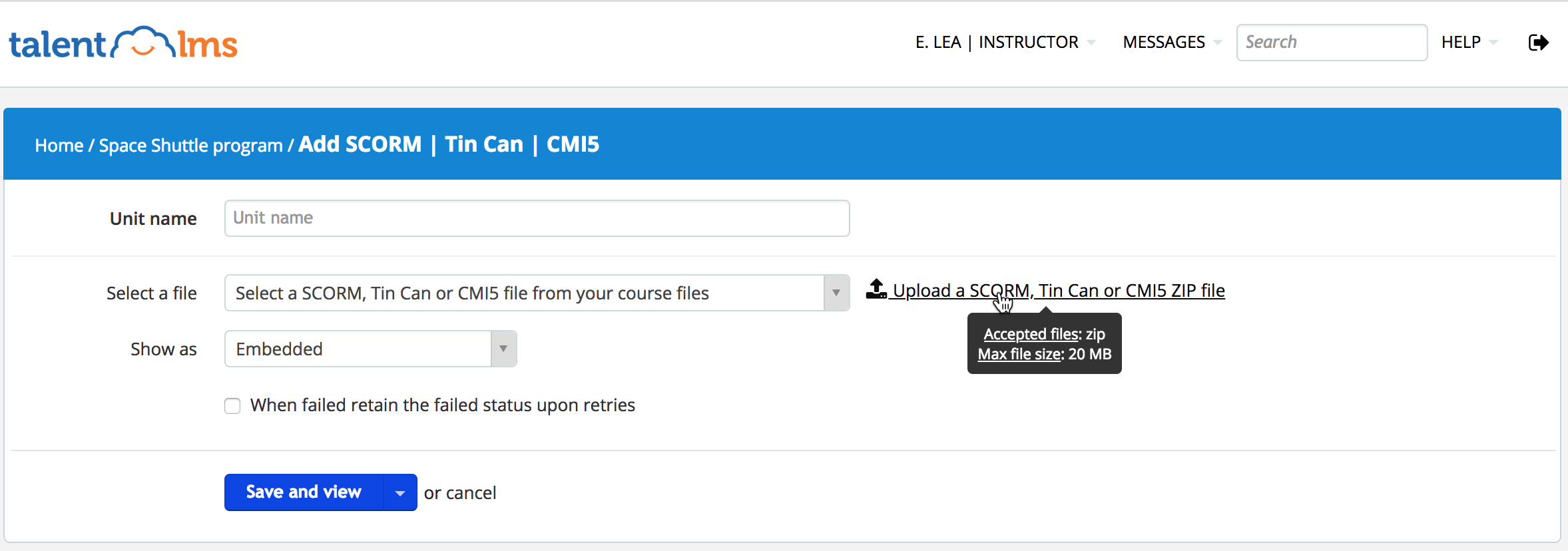 How to Upload an e-LEarning Course into TalentLMS