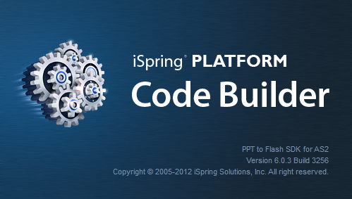 iSpring SDK CodeBuilder screen