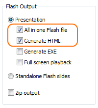 Add Flash to HTML: Publishing into a single Flash file