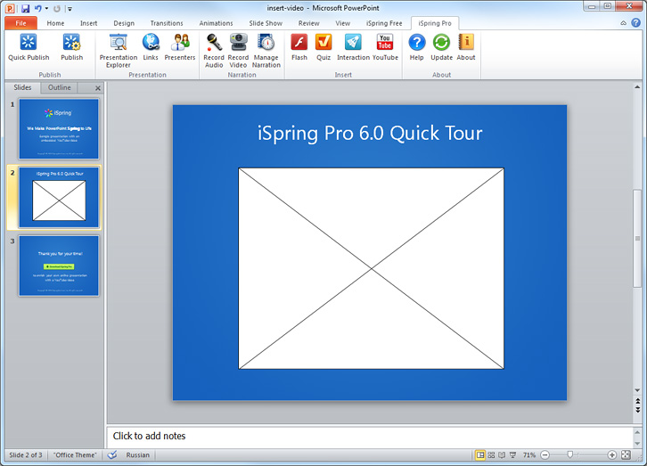 how to put a online video on powerpoint
