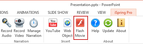 Insert Flash into PowerPoint 2013 | iSpring Pro