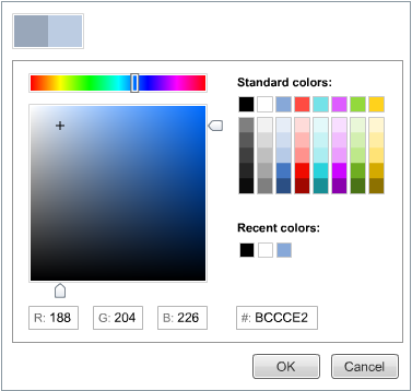Choose any background color for Flash presentation