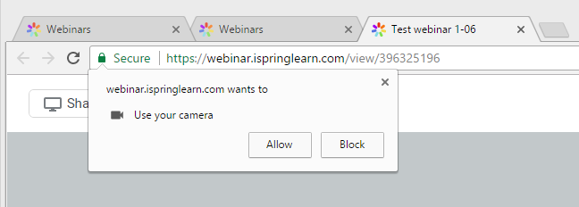 Allow to use a camera in chrome
