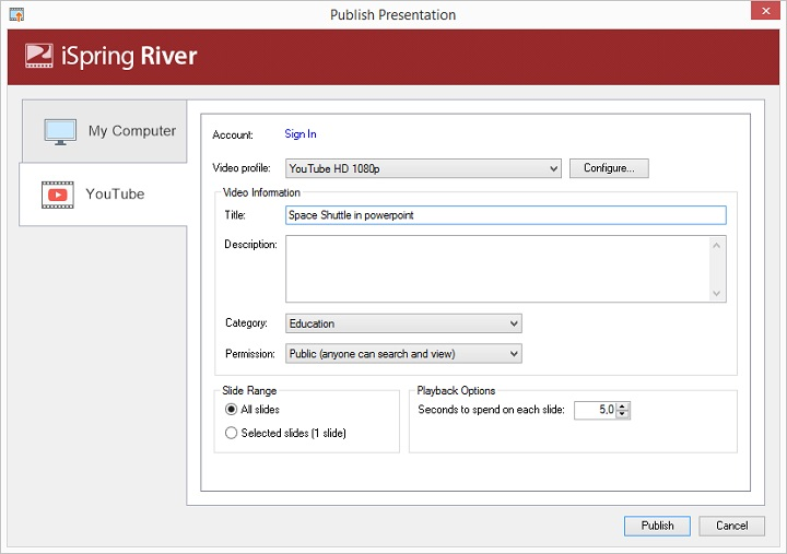 Picture 3: Change YouTube video title in PowerPoint
