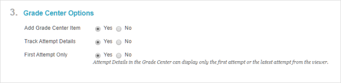 Set up the Grade Center options in Blackboard