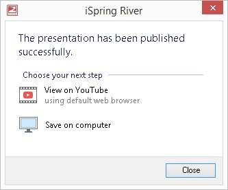 Picture 9: Options for viewing PowerPoint on YouTube